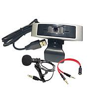 Webcam Dùng Cho Máy Tính, Laptop CM330G Kèm Micro Cài Áo, Gộp Loa Micro Để Sử Dụng Cho Webcam thumbnail
