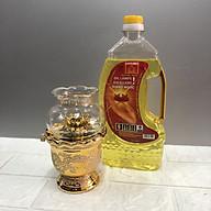 Đèn thờ đốt dầu kim sa ( tặng chai dầu 0,5lit) thumbnail