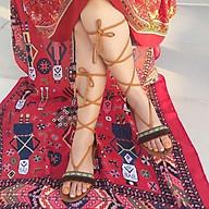 Giày Sandal Nữ Chiến Binh Dây Cột Thổ Cẩm Thời Trang Phong Cách Hàn Quốc thumbnail