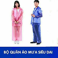 bộ quần áo mưa chấm bi siêu dai thumbnail