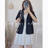 Áo vest nữ blazer A.231, áo khoác ngoài dáng ngắn cổ giả vest phong cách Hàn Quốc thumbnail