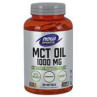 MCT Oil 1000mg Hỗ trợ chuyển hóa các loại chất béo khó tiêu (dự trữ) trong cơ thể chuyển hóa thành năng lượng, Đốt cháy mỡ thừa - hỗ trợ Giảm cân hiệu quả cho người luyện tập thể thao (150 Viên) thumbnail
