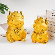 Ống đựng tiền tiết kiệm hình trâu vàng - ống đựng tiền lì xì siêu xinh năn năm 2021 thumbnail