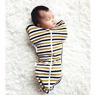 Quấn nhộng chũn cao cấp giúp bé ngủ ngon - Cotton co giãn 4 chiều - An toàn cho bé thumbnail