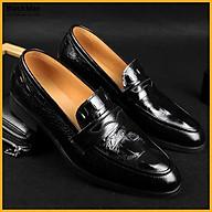 Giày lười nam đẹp da bò thật dập vân cá sấu dáng công sở Blackman - BH 12 tháng thumbnail