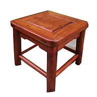 Ghế gỗ vuông, ghế nhi, ghế đẩu gỗ hương cao cấp tự nhiên thân thiện với môi trường thumbnail