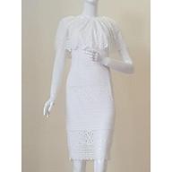 ZERASY - Đầm dự tiệc màu trắng thumbnail