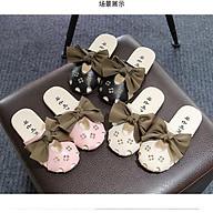 (H-8) Dép Sục nơ xinh cho bé gái_da PU_sục da mềm cho bé thumbnail