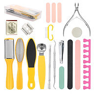20 PCS Pedicure Set Foot Sharpener Set Nail File Foot Rubbing Scraper Peeling Pedicure Knife Tools Toe Rest Polishing thumbnail