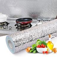 COmbo 2 cuộn Giấy bạc dán tường nhà bếp chống thấm dầu, thấm nước tiện dụng 3mx60cm thumbnail