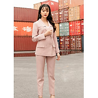 Áo Vest hồng phối quần dài đũi xước mịn thumbnail