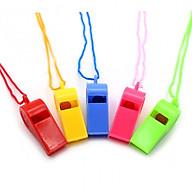 Còi Nhựa Thể Thao Có Dây Buộc - Còi Trọng Tài Thể Thao Bằng Nhựa Nhiều Màu Sắc thumbnail