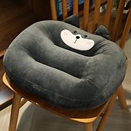 Đệm lót ngồi bệt gấu nhung siêu dày kiểu nhật - Đệm lót ghế văn phòng oto nâng chiều cao thumbnail