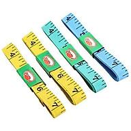 Combo 10 thước dây may vá, đo chiều cao, đo kích thước 3 vòng nhiều màu (màu ngẫu nhiên) thumbnail
