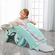 Cầu trượt bập bênh hình cá heo Holla 2020 thiết kế 3in1Ếch bập bênh- Cầu trượt cá heo- Cột bóng rổ cho bé thỏa sức vận động chỉ trong 1 sản phẩm thumbnail