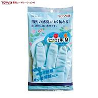 Găng tay Towa cao su tự nhiên đa dụng size M,L màu xanh - Hàng Nhật Nội địa - Made in Japan thumbnail
