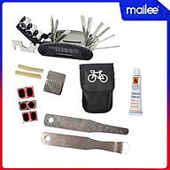 Túi Vá Săm Lốp Xe Đạp Sửa Chữa Đa Năng 10 in 1 Mini Khẩn Cấp (Bản nâng cấp có túi và Thanh nạy bằng kim loại) MaiLee thumbnail