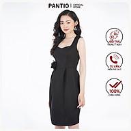 Đầm công sở chất liệu cotton dáng ôm gắn hoa 3D phần eo FDC92834 - PANTIO thumbnail