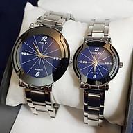 Cặp Đồng Hồ Nam Nữ HALEI - HL457 dây bạc thumbnail