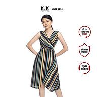 Đầm Công Sở Wrap Dress Dáng Chữ A K&K Fashion KK106-01 Họa Tiết Kẻ Sọc thumbnail