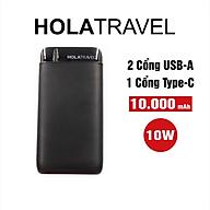 Pin Sạc Dự Phòng HolaTravel PowerGo Li-Polymer 10000 mAh 2 Cổng Vào Type-C MicroUSB - Hàng Chính Hãng thumbnail