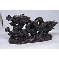 Tượng Rồng phong thủy tay cầm ngọc bằng đá thumbnail