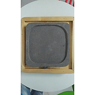 Combo đá nướng núi lửa không khói và đế lót khay hình vuông gỗ thông chuyên biệt Madala thumbnail