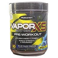 Pre-Workout Vapor X5 của MuscleTech hương Blue Razz Freeze hộp 30 lần dùng hỗ trợ Tăng Sức Bền, Sức Mạnh, Đốt Mỡ, Giảm Cân mạnh mẽ cho người tập GYM thumbnail