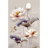 Tranh dán tường 3d hoa sen - ép kim sa - có sẵn keo SN72 thumbnail