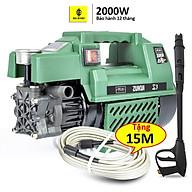 Máy rửa xe gia đình công suất mạnh 2000W - C0001G2, dễ dàng xịt tưới ống bơm nước 15m, vòi bơm áp lực cao thumbnail