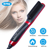 Portable Straightening Comb Electric Ceramic Multifunctional Straight Curly Combs Quick Heated Modelling Brush Styling thumbnail