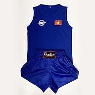 Bộ quần áo thi đấu Fighter Võ Cổ Truyền luật mới nhất, màu xanh, đỏ thumbnail
