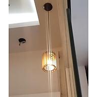 Đèn gỗ diy thả trần trụ tròn thumbnail