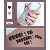 Bộ 24 móng tay giả (R012) tặng kèm thun lò xo cột tóc màu đen tiện lợi thumbnail