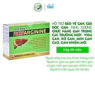 TPCN viên uống BỔ GAN ROBARGININE hỗ trợ bảo vệ gan,làm mát gan,giải độc gan và làm giảm tình trạng mẩn ngứa,nổi mề đai-hộp 90 viên nang mềm thumbnail