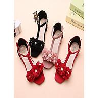Giày sandal bông hoa cho bé gái ES005D thumbnail