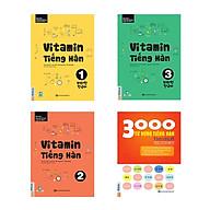 Combo Vitamin tiếng Hàn cho người mới bắt đầu tự học kèm App di dộng và Web ( Vitamin tiếng Hàn 1, 2, 3 + tặng kèm 3000 Từ vựng tiếng hàn theo chủ đề) thumbnail