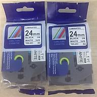 Combo 2 cuộn nhãn in TZ2-251 tiêu chuẩn - Chữ đen trên nền trắng 24mm - Hàng nhập khẩu thumbnail