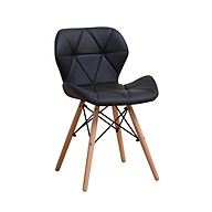 Ghế nệm may viền chân giả gỗ cao cấp GXG016(đen) thumbnail