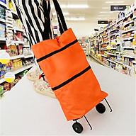Túi Xách Đi Chợ Tiện Dụng Có Bánh Xe Di Chuyển Dễ Dàng Bảo Vệ Môi Trường 2 Màu Lựa Chọn thumbnail