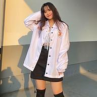 Áo Khoác Dù Chống Nắng 123SHOP Cặp Đôi Cho Nữ Cho Nam cúc gài Unisex Form Rộng Có 2 Màu Jacket Ulzzang ( ảnh Thật ) thumbnail