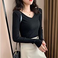 Áo Len Dệt Kim Cổ Tim Xinh Xắn Cho Nữ thumbnail