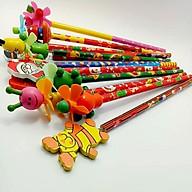 5 Bút chì gỗ, hình thù 3D độc đáo trên đầu bút, quà tặng cho bé - Giao màu ngẫu nhiên thumbnail