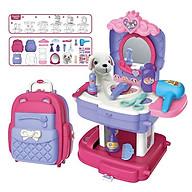 Đồ Chơi Trang Điểm Cho Bé Gái Có Búp Bê Thú Nhồi Bông Nhập Vai Bowa Xếp Lại Dễ Dàng Thành Balo 8394P - Pet care School Bag Role thumbnail