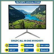 Máy tính All In One SingPC M19G4971 (Intel G4900, 4GB DDR4, SSD 128GB, LED 19 , LAN, WiFi, Bluetooth, Loa, Free DOS) - Hàng Chính Hãng thumbnail