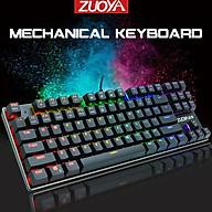 Bàn Phím Cơ Chuyên Game Zuoya X51 Led RGB 87 Phím - Hàng Nhập Khẩu thumbnail