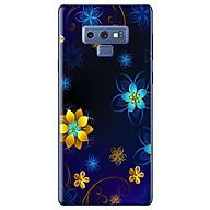 Ô p Lưng Dành Cho Samsung Galaxy Note 9 - Họa Tiết Hoa Nền Đen thumbnail