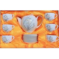Bộ bình pha trà sứ trang mẹn cao cấp - ANTH595 thumbnail