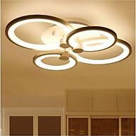 Đèn led trần 4 cánh tròn V4 3 màu, điều khiển từ xa thumbnail