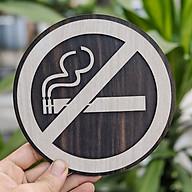 Tranh gỗ treo tường_Biển gỗ No Smoking- Cấm hút thuốc F02_CRN_01 thumbnail